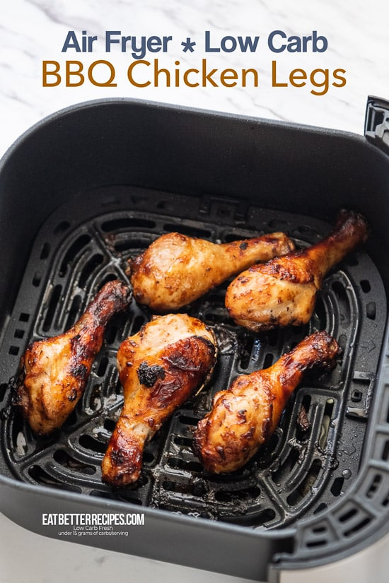 Air Fried BBQ Chicken Legs Recipe in Air Fryer | @EatBetterRecipes
