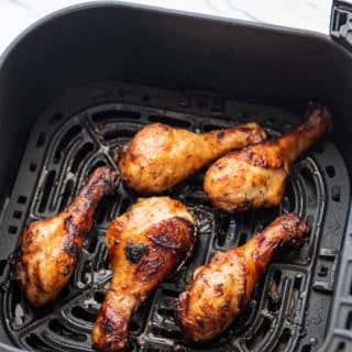 Air Fried BBQ Chicken Legs Recipe in Air Fryer | @EatBetterRecipes