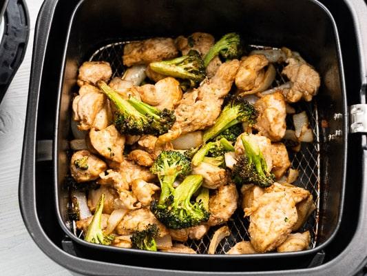 Air fryer crispy broccoli and chicken