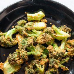 Crispy Air Fryer Broccoli Bites Keto | EatBetterRecipes.com