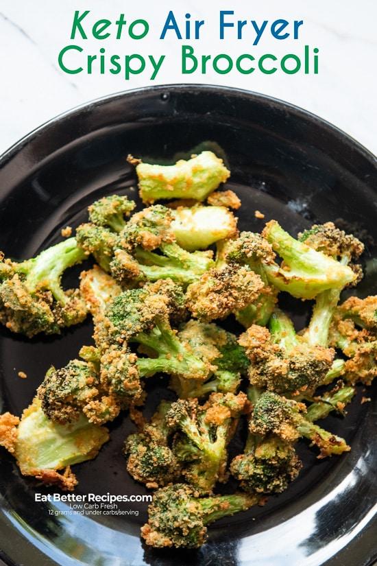 Crispy Air Fryer Broccoli Bites on a plate