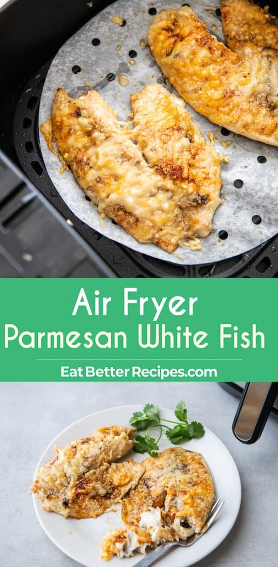 Air Fryer Parmesan White Fish step by step photos