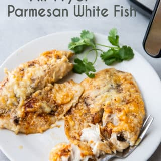 Air Fryer Parmesan White Fish Keto Low Carb Recipe | EatBetterRecipes.com