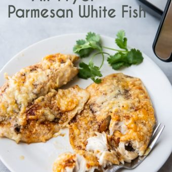 Air Fryer Parmesan White Fish Keto Low Carb Recipe | EatBetterRecipes.com
