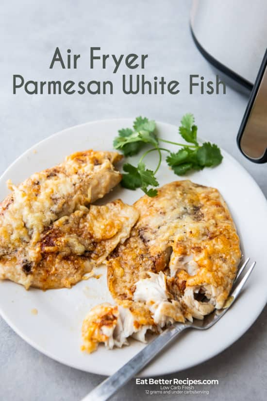 Air Fryer Parmesan White Fish on a plate