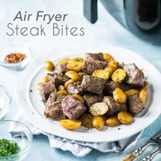 Best Air Fryer Steak Bites Recipe in the Air Fryer. Perfect Keto Steak Bites Dinner! | @eatbetterrecipes