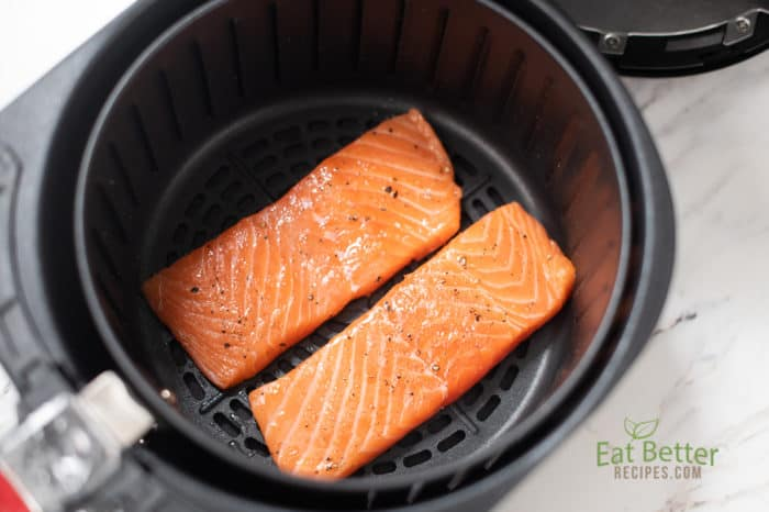 Healthy Air Fryer Baked Salmon with Less Oil | Eat Better