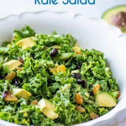 Avocado Massaged Kale Salad Healthy | EatBetterRecipes.com