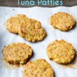 Healthy Baked Tuna Patties Recipe that's Easy Paleo Tuna Patties Recipe @eatbetterrecipes #keto #ketorecipes #tuna #seafood #paleo