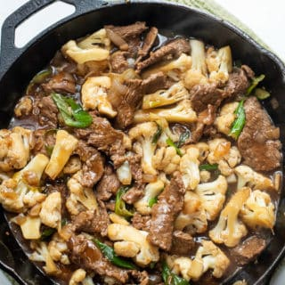 Beef and Cauliflower Stir Fry Recipe Low Carb, Keto and Healthy | EatBetterRecipes.com