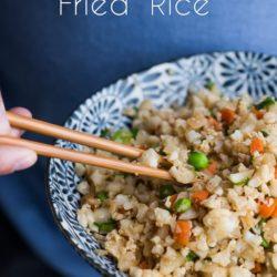 Healthy Low Carb Cauliflower Fried Rice Recipe | @EatBetterRecipes