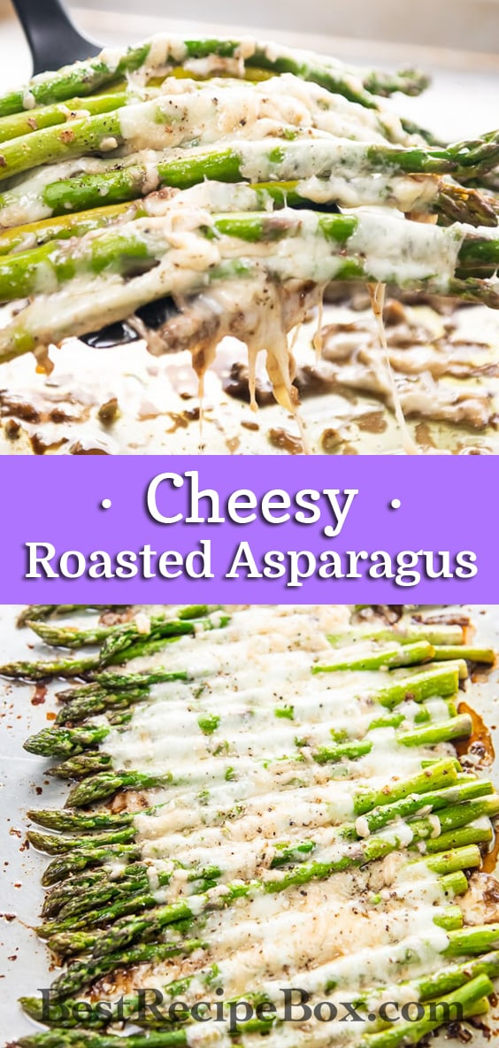 Easy Roasted Asparagus Recipe with Cheese | EatBetterRecipes.com