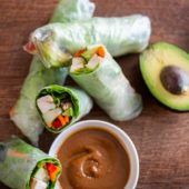 Chicken Avocado Spring Rolls Recipe | @EatBetterRecipes