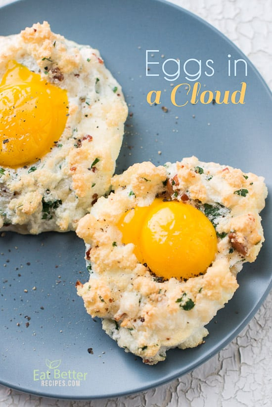 Cloud Eggs Recipe for Eggs in A Cloud on a plate