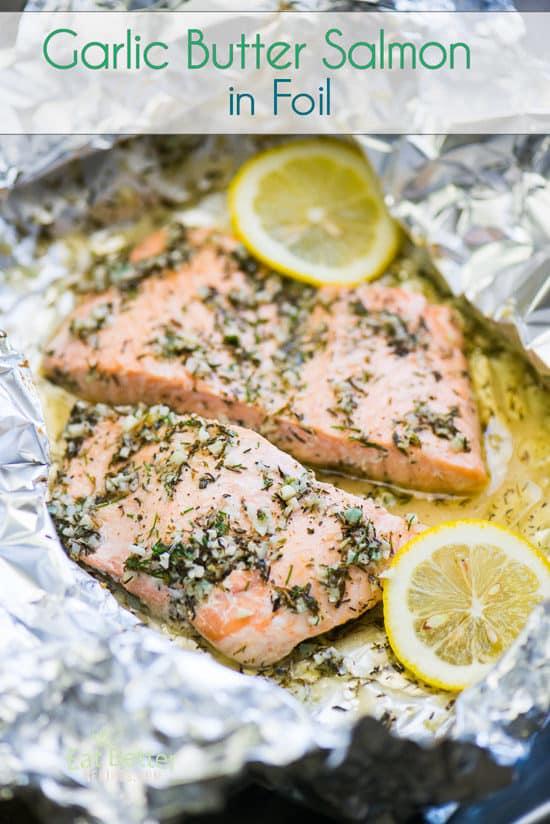 Foil Pack Garlic Salmon Recipe in a foil pack