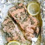 Foil Pack Garlic Salmon Recipe @EatBetterRecipes