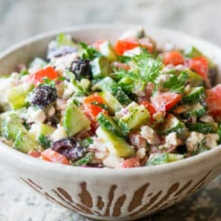 20-minute Greek Salad Recipe | @EatBetterRecipes