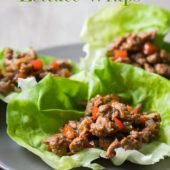 Healthy Turkey Lettuce Wraps   @EatBetterRecipes