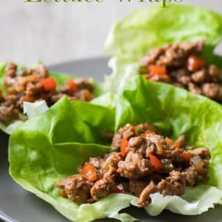 Healthy Turkey Lettuce Wraps | @EatBetterRecipes
