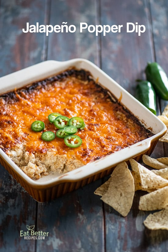 Baked Jalapeño Popper Dip Recipe and Best Cheese Dip Recipe | @eatbetterrecipes