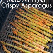 Keto Air Fryer Crispy Asparagus - EatBetterRecipes