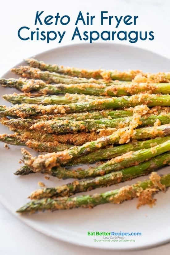 breaded asparagus on a plate