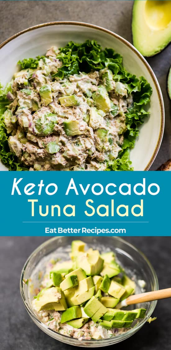 Keto Avocado Tuna Salad step by step photos