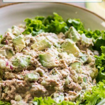Keto Avocado Tuna Salad Recipe Low carb | EatBetterRecipes.com