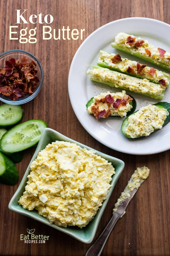 Keto Egg Butter Recipe Low Carb | @EatBetterRecipes
