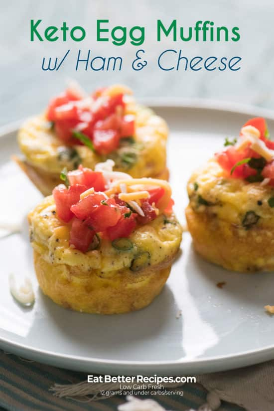 Keto Egg Muffins on a plate