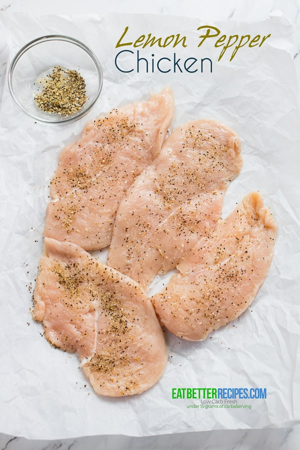 Lemon Pepper Chicken Recipe with Creamy Garlic Lemon Sauce @eatbetterrecipes