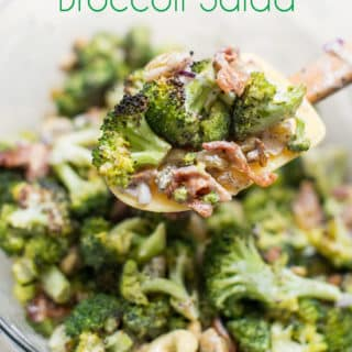 Healthy Low carb Broccoli Salad Recipe | @EatBetterRecipes