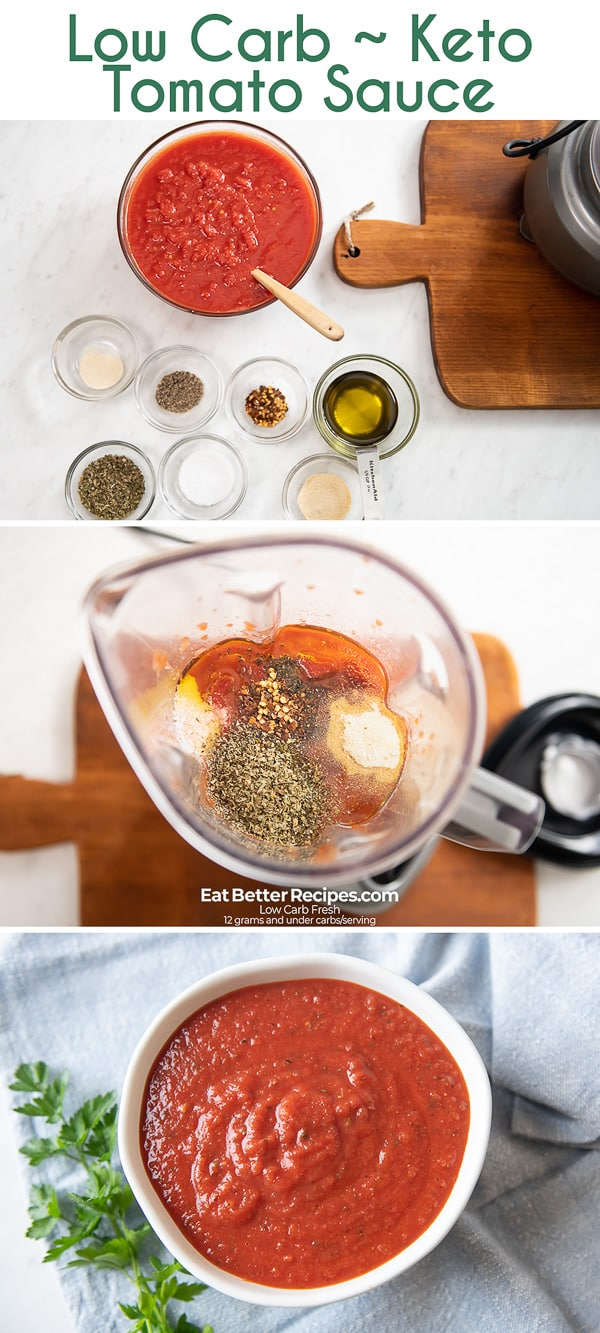 Low Carb Keto Tomato Sauce step by step photos