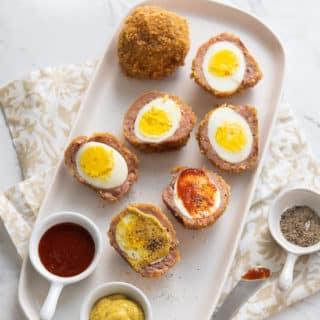 Low Carb Scotch Eggs KETO PALEO and delicious! @EatBetterRecipes