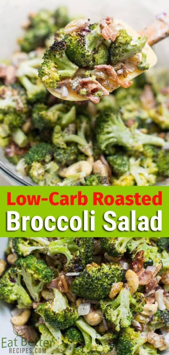 Low Carb Broccoli Salad Recipe Healthy Too! | @EatBetterRecipes