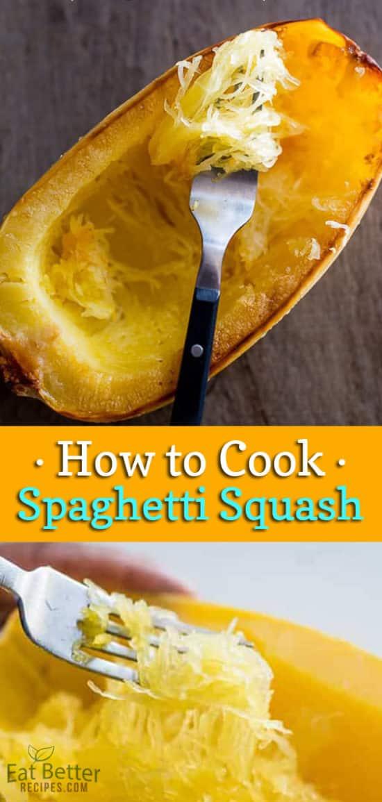 How to Cook Spaghetti Squash in Oven | EatBetterRecipes.com