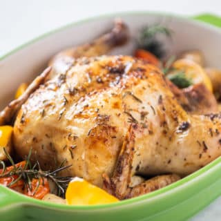 Roast Chicken Recipe with Lemon, Garlic and Herbs | EatBetterRecipes.com