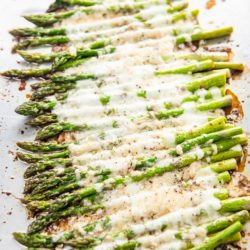 Easy Roasted Asparagus Recipe with Cheese | EatBetterRecipes.com