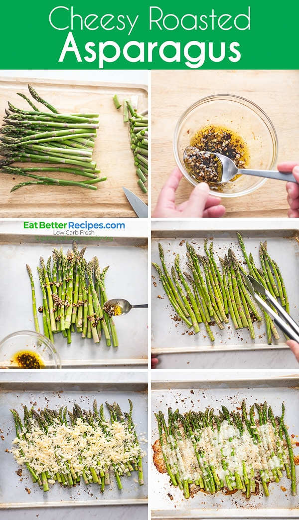 Easy Roasted Asparagus Recipe with Cheese step by step photos