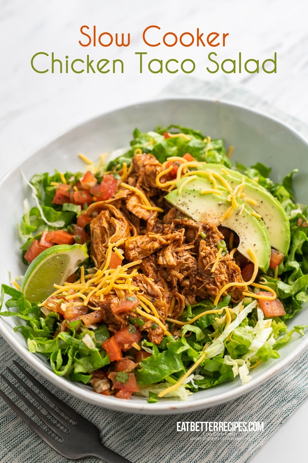 Slow Cooker Mexican Chicken in a bowl