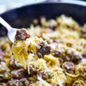 How to Cook Spaghetti Squash Recipe with Sausage | EatBetterRecipes.com
