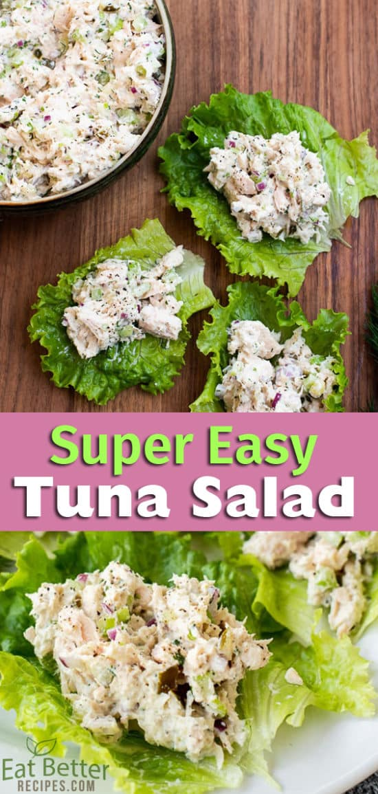 Easy Tuna Salad Recipe Low Carb, Healthy, Keto | @EatBetterRecipes