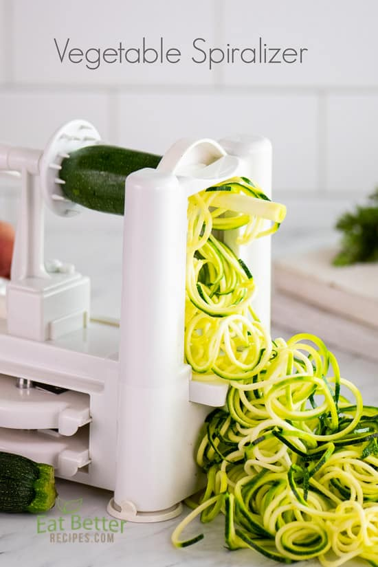 Best Zucchini Noodle Spiralizer Attachment Tools for Zoodles @EatBetterRecipes