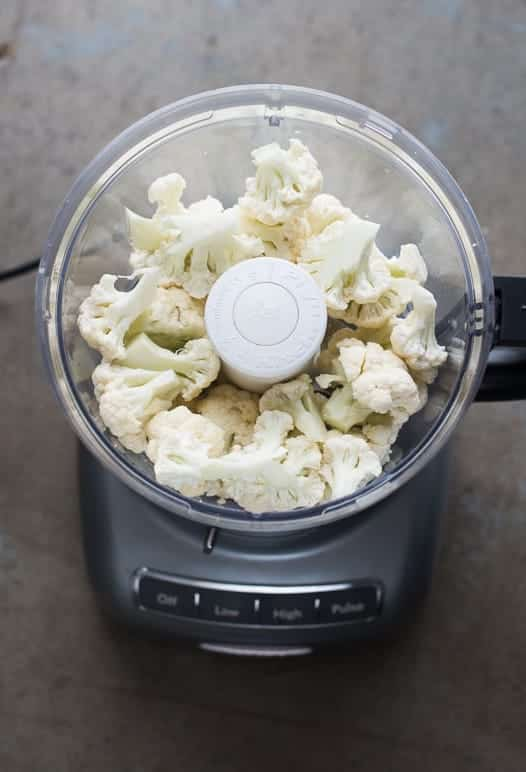 how to make cauliflower rice in food processor
