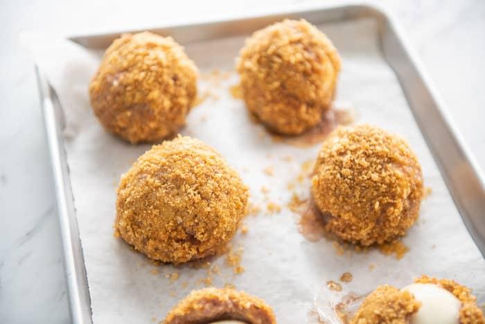 Keto Low Carb Scotch Eggs Recipe @EatBetterRecipes